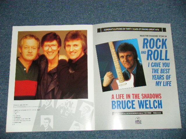 The shadows 30 years of hits 1988 tour books 1988 uk for Songs from 1988 uk